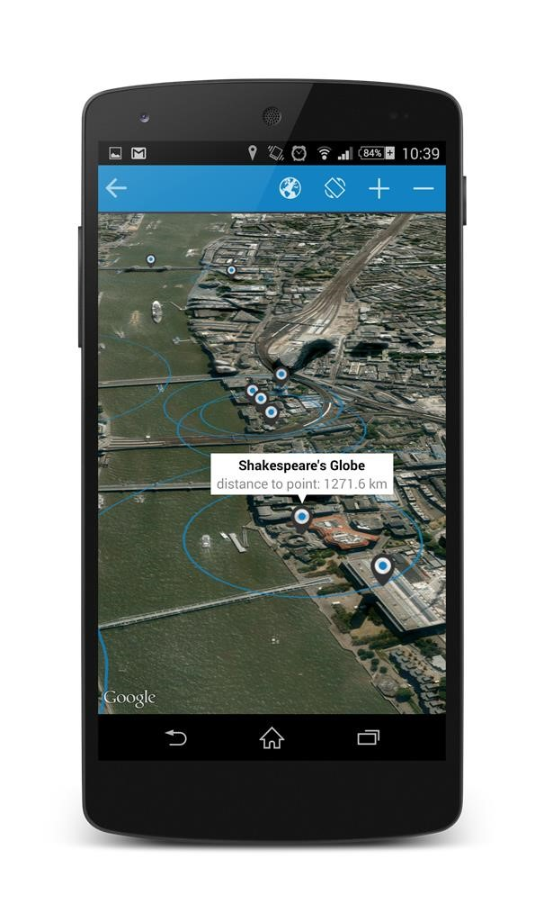 The mobile guiding app artour notifies you when you are close to a point of interest.